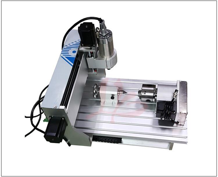 цена на 2016 cnc drilling machine 6040 4axis woodworking cnc router 800w for metal alumnium wood