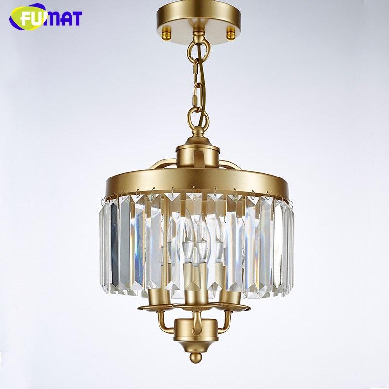 FUMAT Loft Lustre Chandelier New Art Deco Crystal Chandelier Indoor Lighting Black Gold Vintage Lamp For