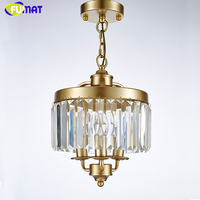 FUMAT Loft Lustre Chandelier New Art Deco Crystal Chandelier Indoor Lighting Black Gold Vintage Lamp For Dinning Room Chandelier