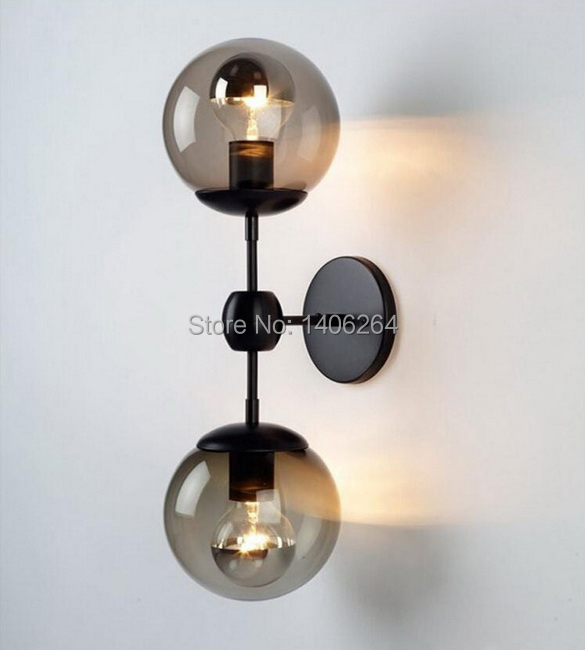 2 Heads Vintage Ceiling Or Wall Lamp Two way Use Magic Beans Glass Wall Lamp Cafe Bar Coffee Shop Store Hall Club стоимость