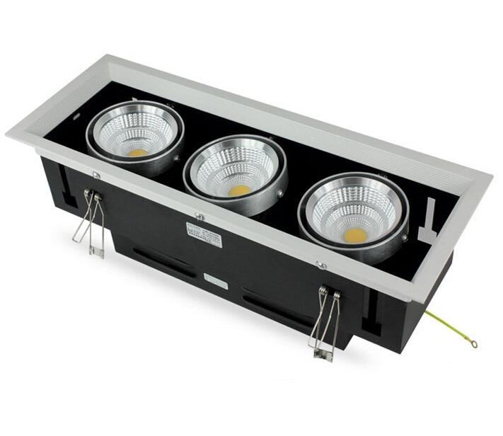 velkoobchodní cena 10W 20W 30W LED bean pot světla 85-265V zapuštěná LED mřížka lampa vysoký výkon LED mřížka světlo vnitřní led osvětlení