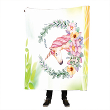 Cute Unicorn Thicking Blanket for Bed Super Soft Beach Towel Kids Art Throws Winter Spring Bedsheet Travel