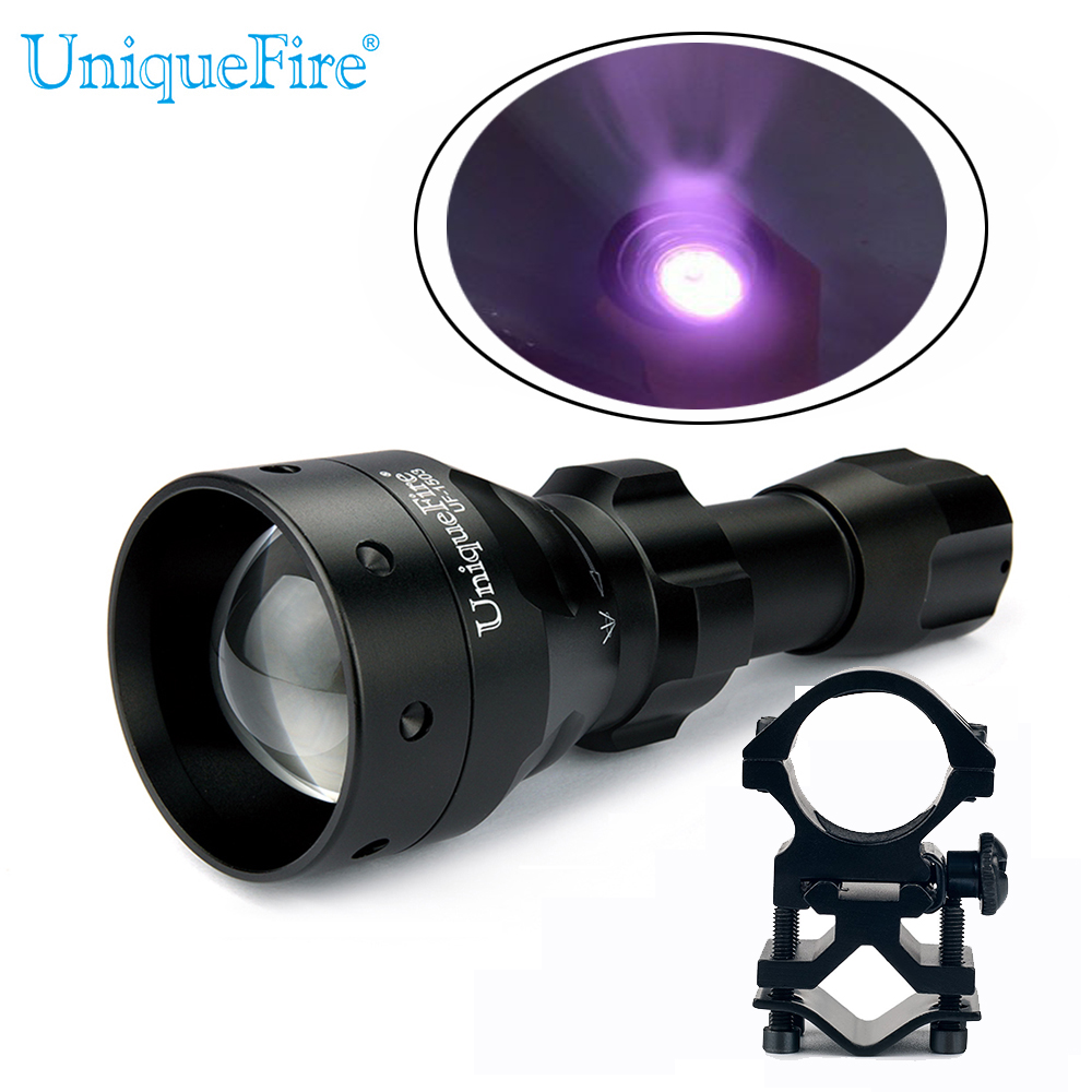 UniqueFire 1503 940nm 3W Zoomable LED Flashlight Adjustable 3 Modes Infrared Torch Night Vision Fill Light Lampe+Scope Mount waterproof flashlight uniquefire infrared night vision 1503 ir 940nm zoomable led flashlight charger tactical remote scope mount