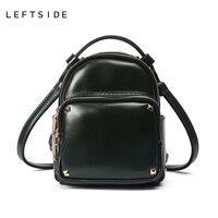 LEFTSIDE 2017 Cute Korean Small Rivets Women Quality PU Leather Bag Mini Backpack For Teen Crossbody