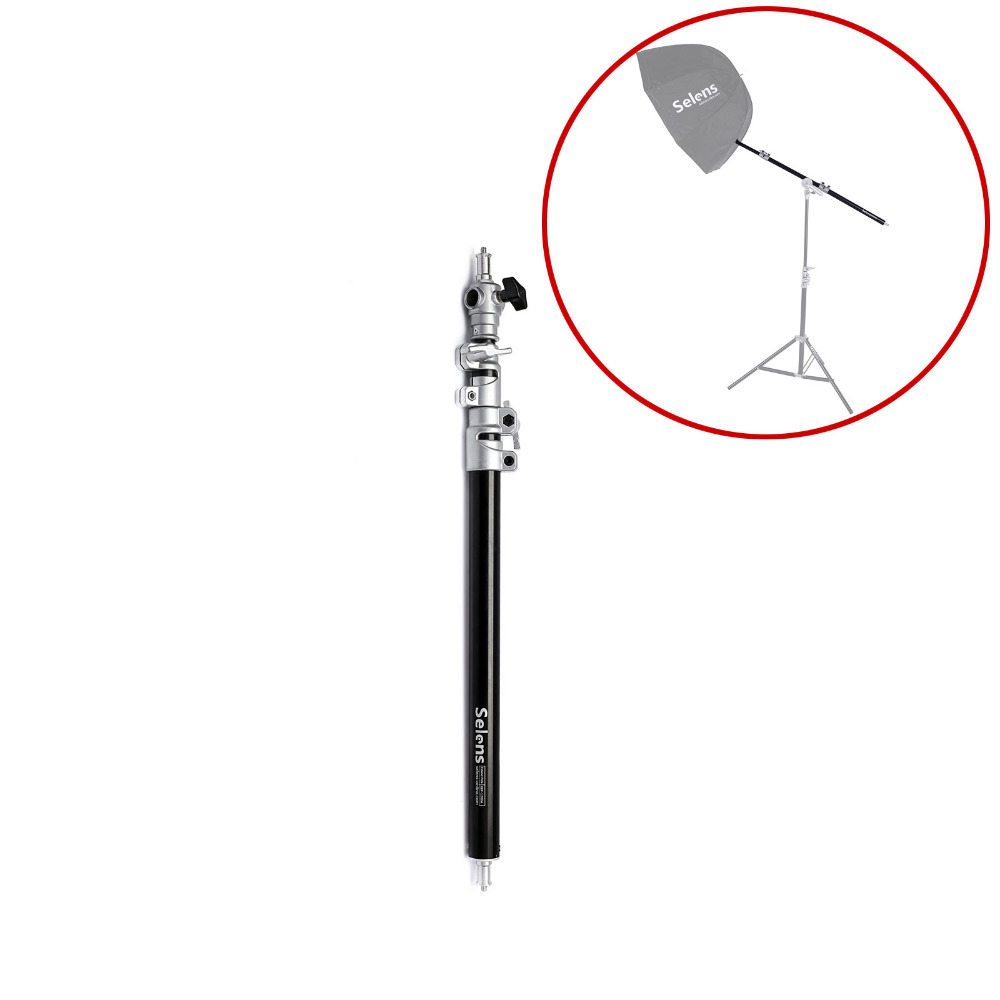 """Light Stand Pole: Selens 60cm / 32"""" Air Cushioned Extension Pole Stand"""