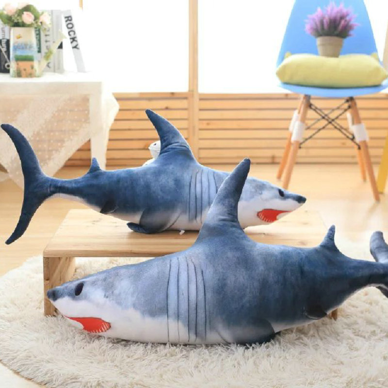 shark cloth doll fish doll birthday gift Christmas present kids baby 40-120cm Big Size toys New Style Gray Shark Plush Toys easyway sea life gray shark great white shark simulation animal model action figures toys educational collection gift for kids