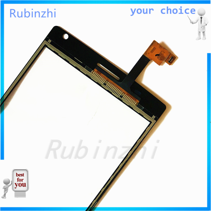 RUBINZHI  Phone Touch Screen Panel For MegaFon MFLoginPh Login Plus Touchscreen Digitizer Front Glass Replacement Sensor+tape Multan