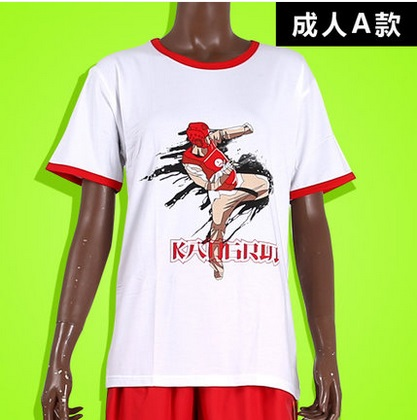 Adult&Kids Male Female 100%Cotton Taekwondo T-shirt Breathable Absorbent Short-sleeve Top-Tee TKD Kickboxing Half-sleeve Clothes