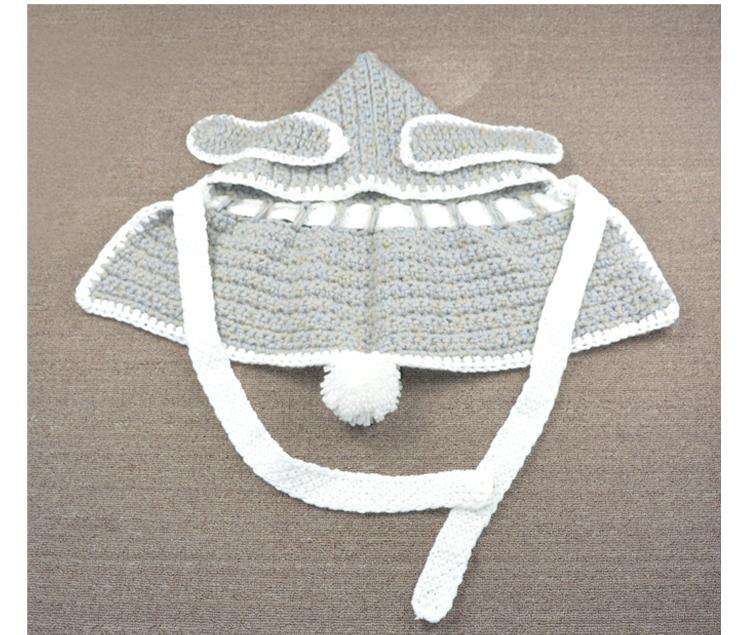 Children Bunny Winter Hats Character Boys Girls Crochet Hooded Cowl ...