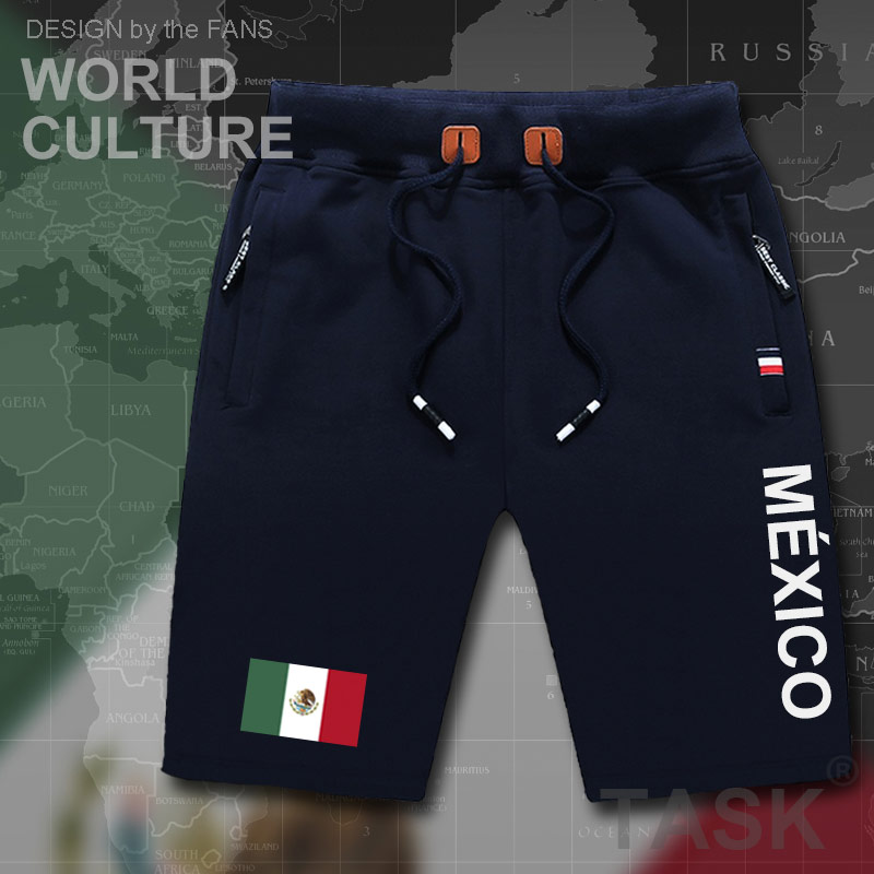 United Mexican States Mexico mens   shorts   beach new men's   board     shorts   flag workout zipper pocket sweat bodybuilding 2017 cotton