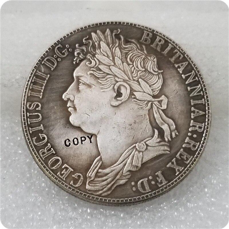 1830 Uk George Iv Coin Crown 4rix Dollar Munt Zilver Copy Gratis Verzending Helder En Doorschijnend Qua Uiterlijk