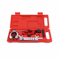 10pcs Pipe Flaring Kit Brake Fuel Tube Repair Flare Tool Set With Cutter Double Flare Dies