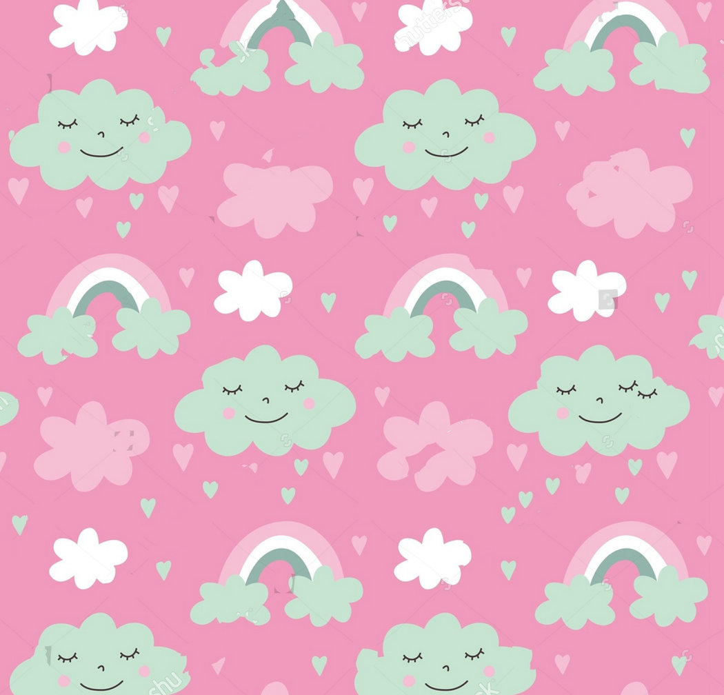 happy cloud baby shower pink backdrops Vinyl cloth High quality Computer print wall photography studio background