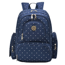 Qimiao 6colors Large Capacity Maternity Dot Backpack Nappy Diaper Backpacks Travel Multifunctional Mother Mummy Mom Baby Bags