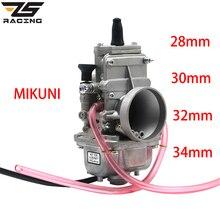 ZS yarış motosiklet MIKUNI 28mm 30mm 32mm 34mm 38mm TM28 TM30 TM32 TM34 TM38 karbüratör düz slayt Smoothbore 2 T motor