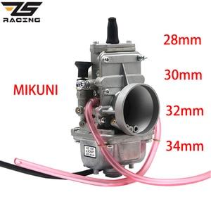 Image 1 - Zs Racing Motorfiets Mikuni 28Mm 30Mm 32Mm 34Mm 38Mm TM28 TM30 TM32 TM34 TM38 Carburateur flat Slide Smoothbore Voor 2 T Motor