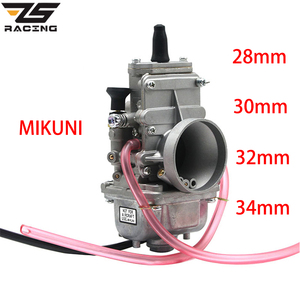 Image 1 - Zs que compete a motocicleta mikuni 28mm 30mm 32mm 34mm 38mm tm28 tm30 tm32 tm34 tm38 carburador slide plana smoothbore para 2 t motor