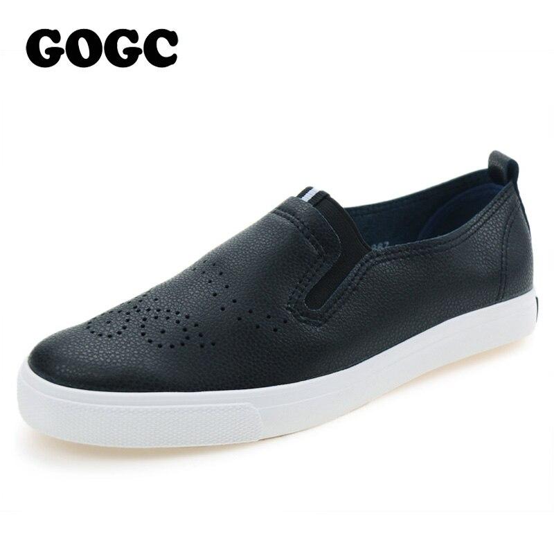 GOGC Moda Zapatos de Cuero Ocasionales para Las Mujeres Calzado Transpirable Sua
