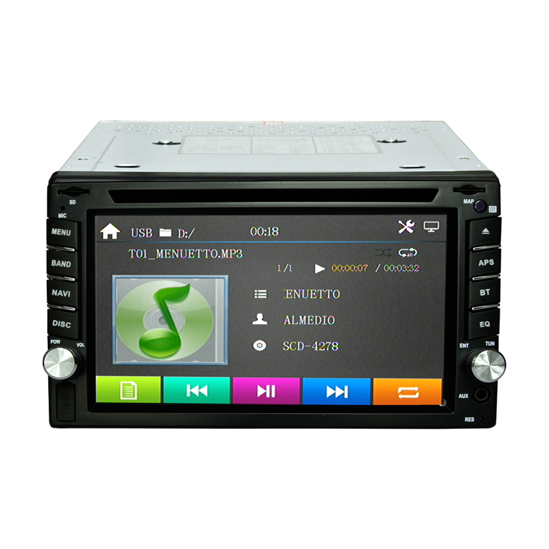 2din Car autoradio GPS Navigation Car DVD Player with Bluetooth Stereo video+Camera+steering wheel+GPS Navigation