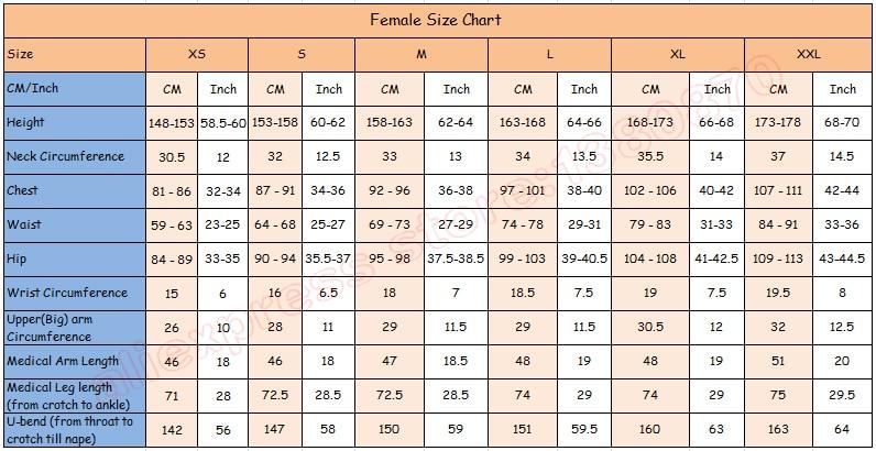 female size