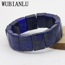 WUBIANLU Lapis Lazuli Elastic Bracelet Multi Element DIY Stone Collocation Five Shapes Selected Fashion Best Selling Jewelry