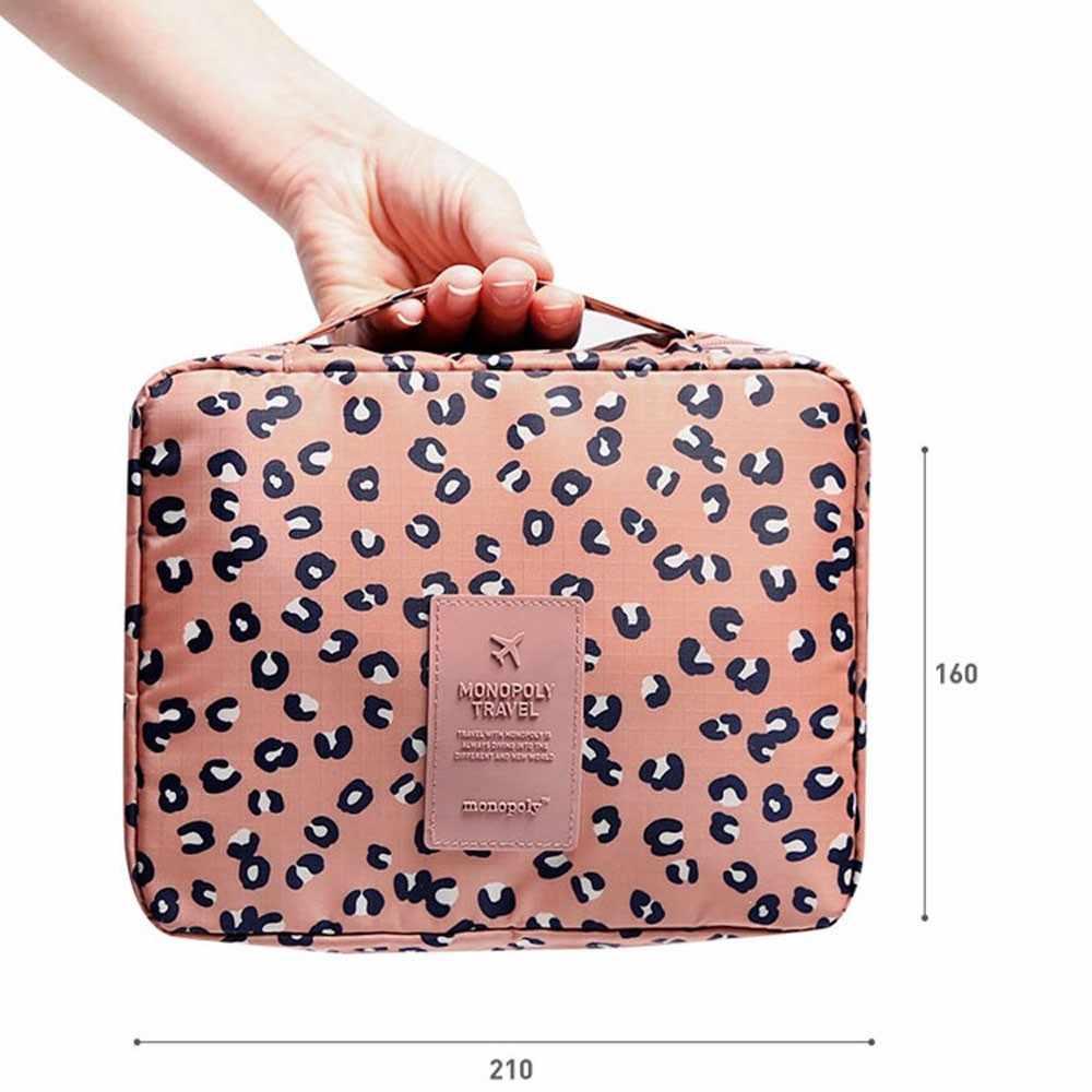 אישה תיק Pockettrip ברור קוסמטי איפור מוצרי טואלטיקה ערכת נסיעות ארגונית נמר trousse maquillage femme enfriar mujer peque o