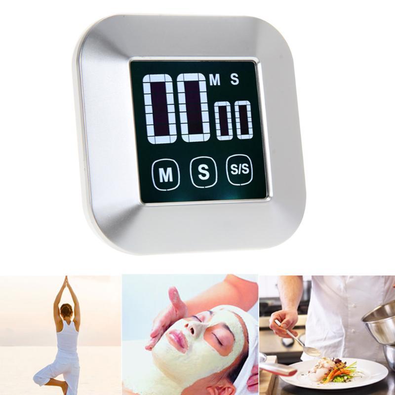 Cocina 0-99 minutos pantalla táctil LCD retroiluminación Digital despertador temporizador herramientas de cocina accesorios de cocina de alta calidad
