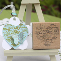High Quality Vintage I Love You Letter 6 6cm Wooden Stamps Scrapbooking Rubber Stamp Carimbos For