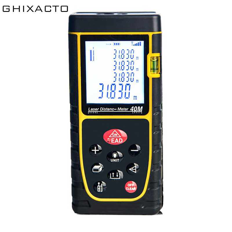 GHIXACTO 40M Laser Ruler Rangefinders Digital Distance Meter Measurer Range Finder Lazer Metreler Build Laser Tape Range Finder
