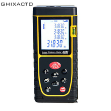 GHIXACTO 40M Laser Ruler Rangefinders Digital Distance Meter Measurer Range Finder Lazer Metreler Build Tape