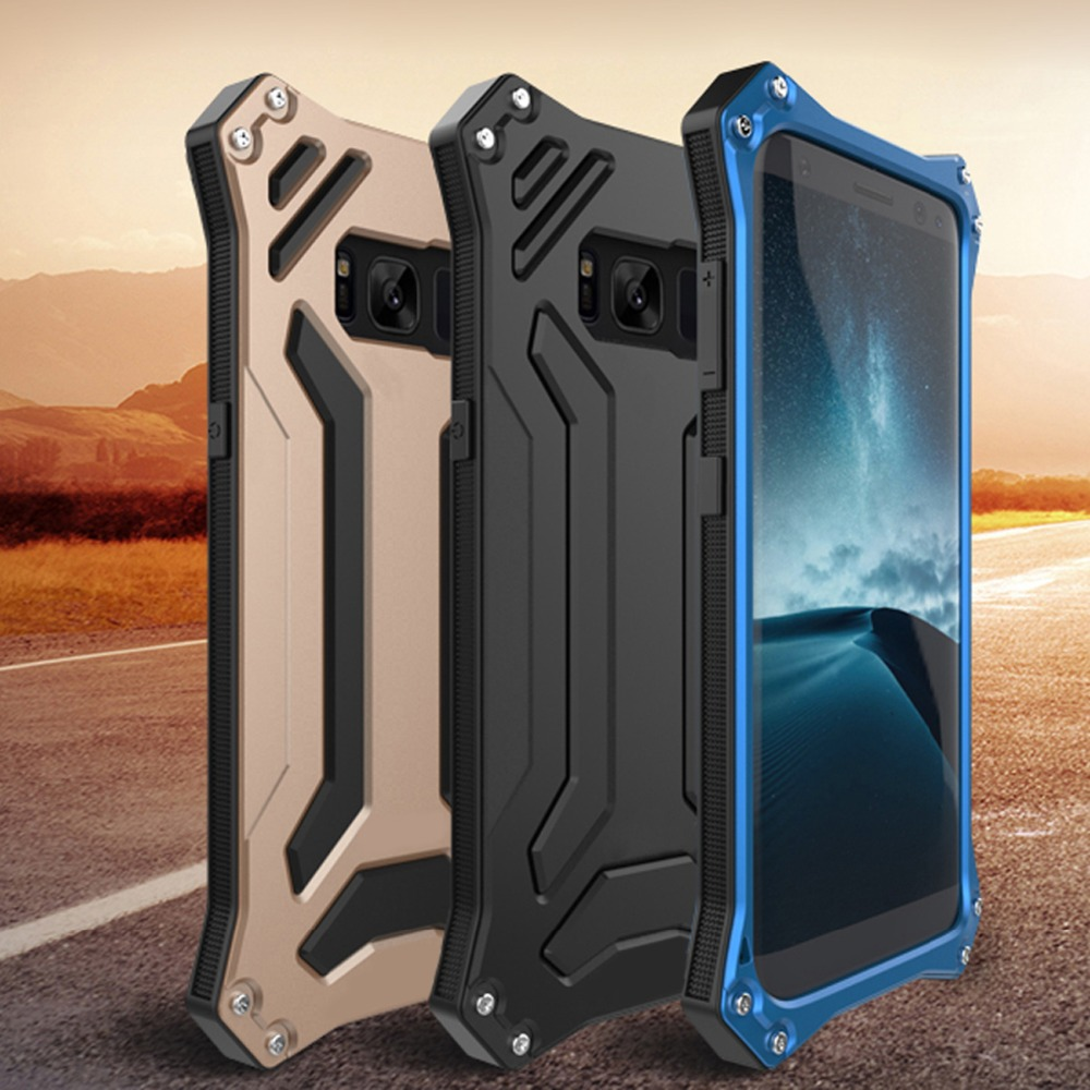 Cool High Quality Aluminum Alloy For Samsung Galaxy S8 S8 plus Shockproof Armor Metal Case Cover
