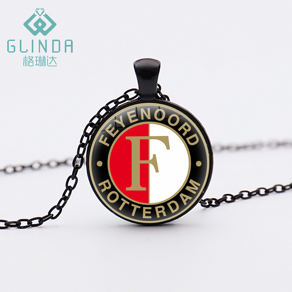 GLINDA Hot Football Team Badge Feyenoord Rotterdam necklaces lucky amulet Charms Pendants Personalized Birthday gift to