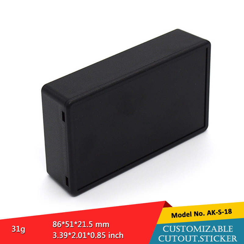 (2 pcs) small junction box power supply abs material 86*51*21.5mm plastic electronic enclosure electrical enclosure