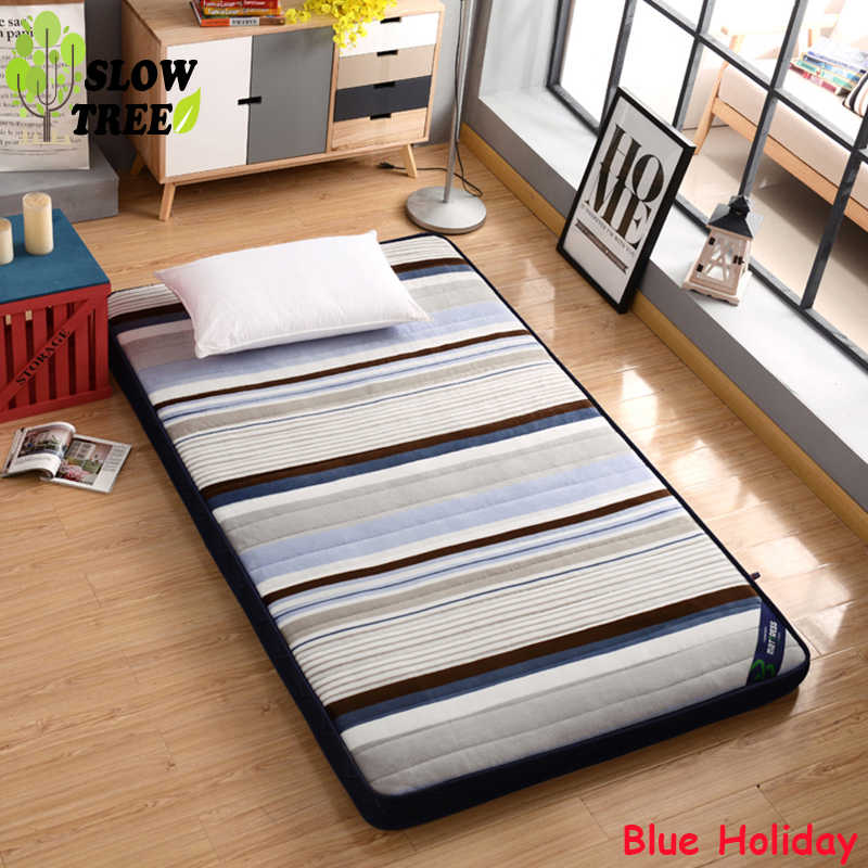 Slow Tree Flannel Mattress Thicken10cm Foldable Queen Bed Mat Home Tatami Bedroom Furniture Single/Double Mattress Floor Mat