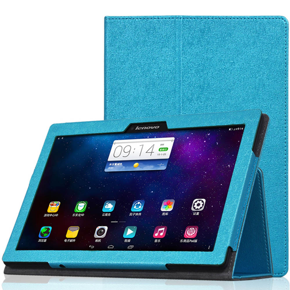 Case for Lenovo TAB2 A10-30 PU Leather Tablet Case for 10.1inch Lenovo TAB 2 A10-30 A10-70 TAB3-X70 TAB2-X30F/M+Stylus