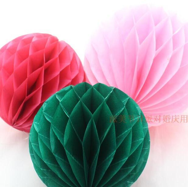 W 40cm=16 inch Tissue Paper Flowers balls pom Poms honeycomb lantern ...