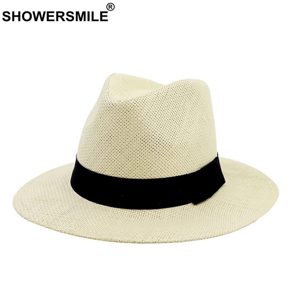 Men Straw Fedora Hats Vintage Summer Beach Linen Sun Caps Male Btitish Stylish Casual Jazz Hat and Caps