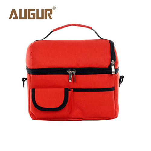 AUGUR Brand Portable Lunch Picnic Bag Insulated Cooler Bag Ice Bag Cool Bag Lunch Box Kit Hand Lunch Pouch Free Shipping