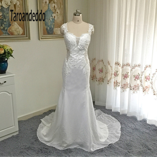 Beaded Lace Wedding Dress with Illusion Details Plunging V neckline ...