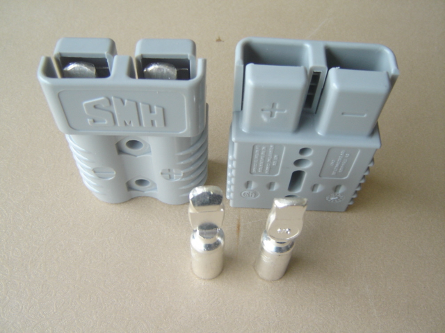 10Pcs Lot GRAY SMH SY 175A 600V FORKLIFT BATTERY PLUG POWER CONNECTOR WITH 1 0 CONTACTS