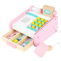 Supermarket children's play house simulation cashier props Baby puzzle early education wooden toys boys and girls gifts