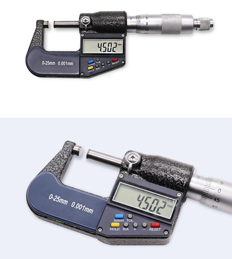 0.001 milímetros Eletrônica Digital Caliper calibre Micrômetro