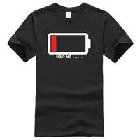 Лето 2019 футболка батарейки помогают мне смешные футболки 100% хлопок высокое качество мужские футболки harajuku Фитнес Футболка мужские топы