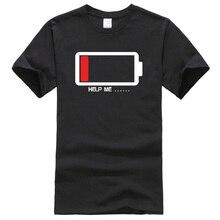 Summer 2017 T shirt Batteries Help Me funny t shirts 100 cotton high quality men s