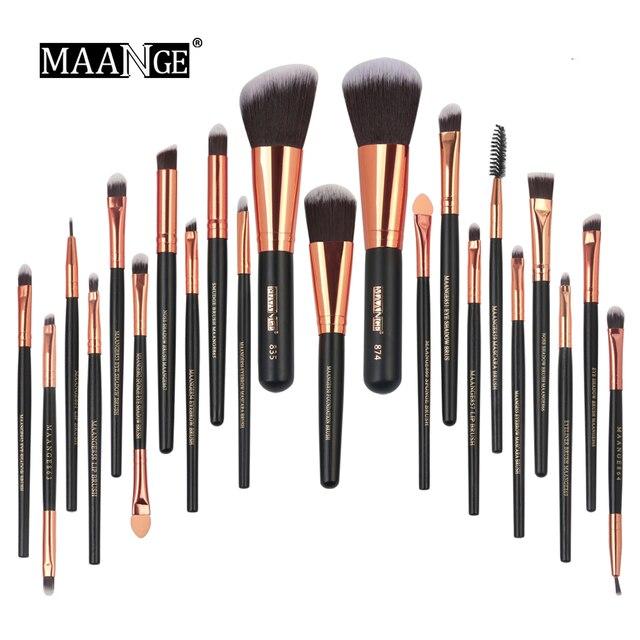MAANGE 22 PCS Makeup Brushes Set Professional Cosmetic Brush Foundation Powder Bulsh Eyeshadow Eyeliner Lip Make Up Brush Tools