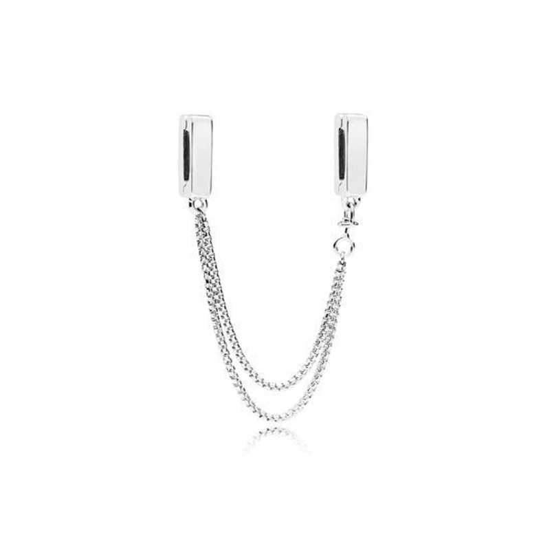 Real 925 Sterling Silver BEAD Charm Reflexions Elegance คลิปคริสตัลลูกปัด Pandora สร้อยข้อมือผู้หญิง DIY เครื่องประดับ 2019