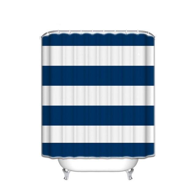 Personnalise Etanche Salle De Bain En Tissu Marine Bleu Beige Large
