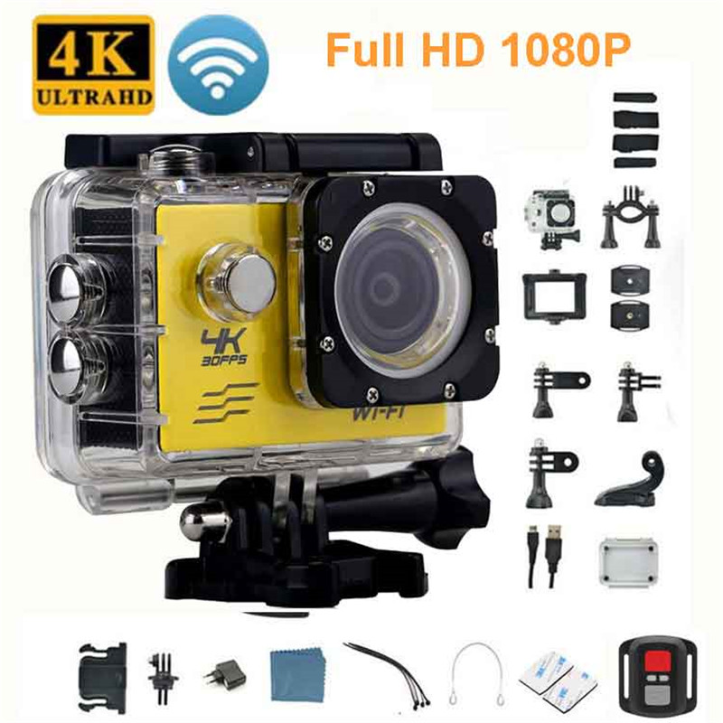 Waterproof Wifi Full HD1080P Camera Ultra 4K HD Action Camera Sport DV Cam Camcorder Support Remote Control|Sports & Action Video Camera| |  - title=