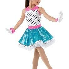Белое яркое балетное платье в горошек для любого выступления, для детей, для девочек, профессиональные балетные пачки, женские сценические костюмы