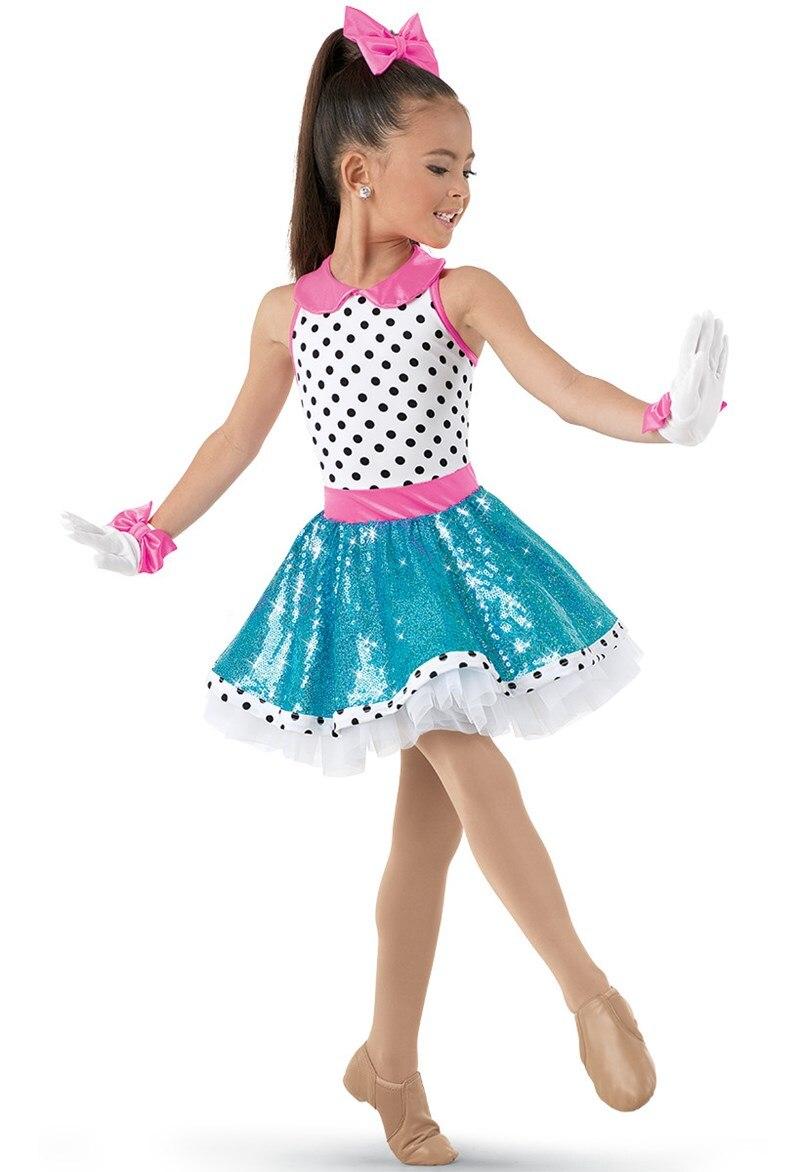 White Lively Polka Dot for Any Performance Ballet Dress for Children Girls Professional Ballet Tutus Women Stage Costumes